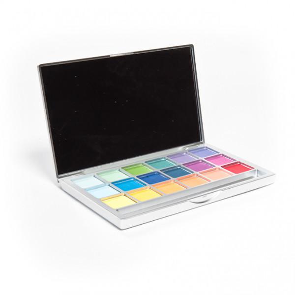 Lidschatten 18 Farben - matt, farbenfroh