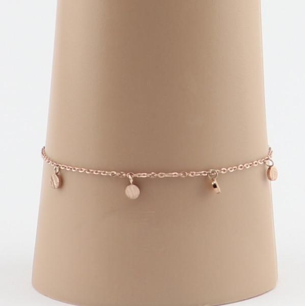 Armband, Momente, Edelstahl Rose vergoldet