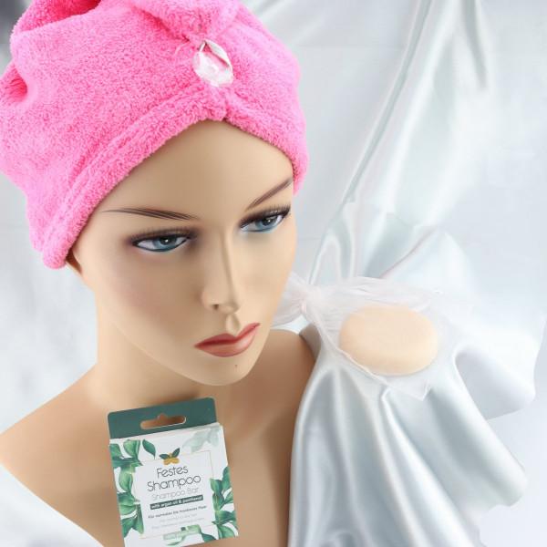 festes Shampoo mit Turban,makeupcoach.com