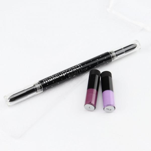 Hell Lila Silber, Lila, Brightliner, makeupcoach.com