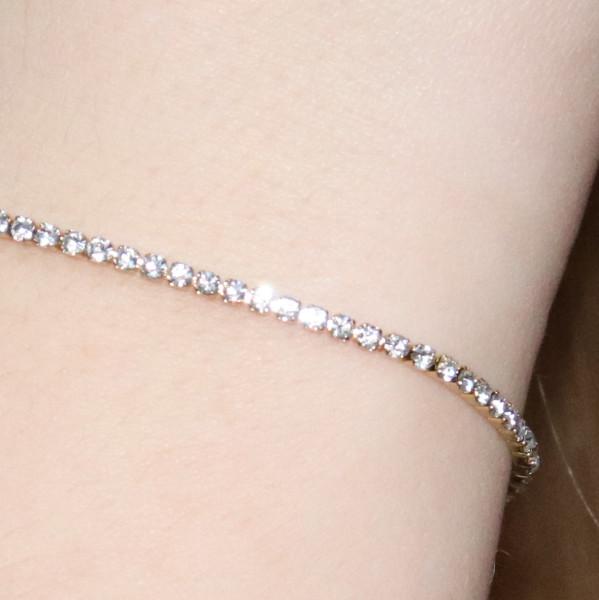 Crystalized Shine Armband, Edelstahl vergoldet