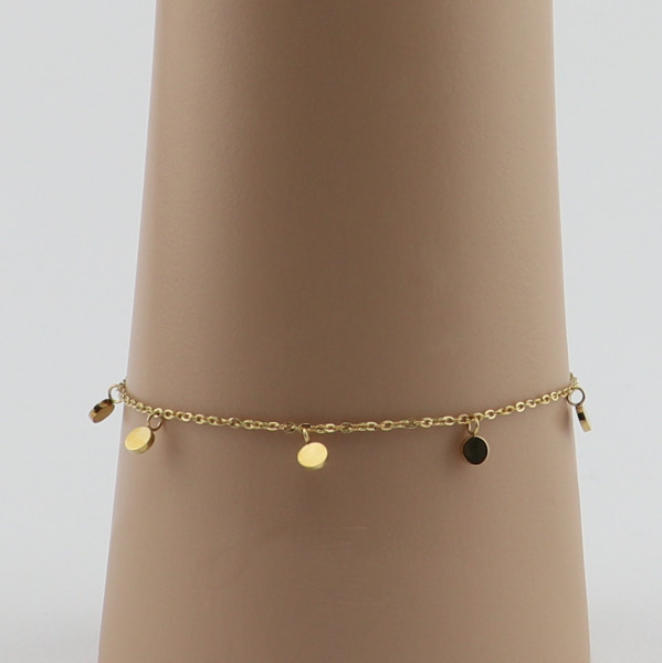 Armband , Momente, Edelstahl, vergoldet
